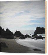 California Coast Iv Wood Print