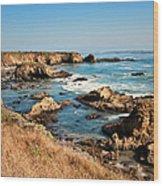 California Coast Rocky Cliffs Wood Print