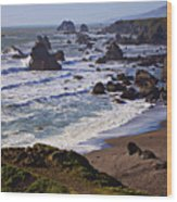 California Coast Sonoma Wood Print