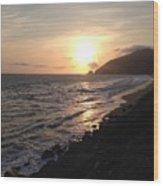 California Coast Sunset At Dunes Wood Print