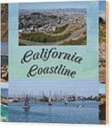 California Collage Wood Print