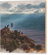 California Condors Wood Print