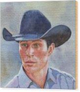 California Cowboy Wood Print
