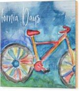 California Days - Art By Linda Woods Wood Print