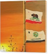 California Glory Wood Print