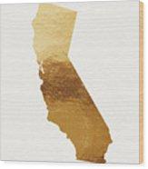 California Gold- Art By Linda Woods Wood Print