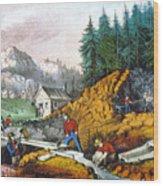 California: Gold Mining Wood Print