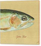 California golden trout Wood Print