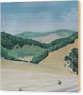 California Highway Wood Print