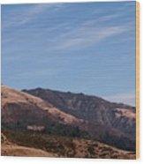 California Hills 4 Wood Print