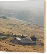 California Homestead - Rural Scene Wood Print