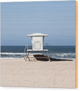 California Lifeguard Tower Photo Wood Print