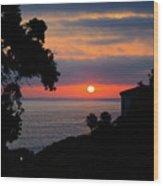 California Mediterranean Wood Print