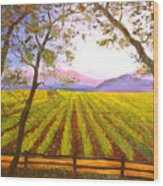 California Napa Valley Vineyard Wood Print