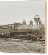 California Northwestern Railroad #30 4-6-0 Baldwin Locomotive Works Circa 1905 Wood Print