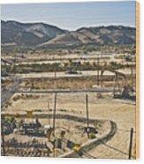 California Oil Field 14pdxl084 Wood Print