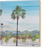 California Painting Wood Print