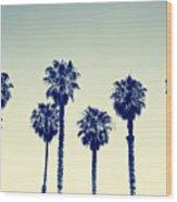 California Palm Trees Wood Print