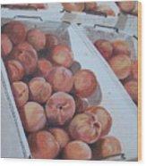 California Peaches Wood Print