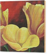 California Poppies Iv Wood Print
