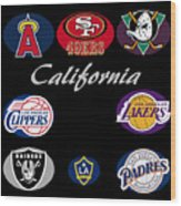 California Professional Sport Teams Collage  Wood Print