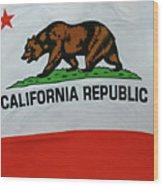 California Republic Flag Wood Print