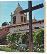 California Spanish Mission Wood Print