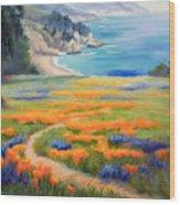California Spring Big Sur Wood Print
