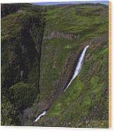 California Spring Falls Wood Print