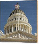 California State Capitol Cupola Wood Print