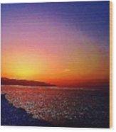 California Sunset 4.2008 Wood Print