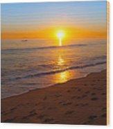 California Sunset Wood Print