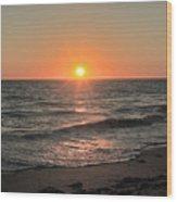 California Sunset Pacific Ocean Davenport  Wood Print