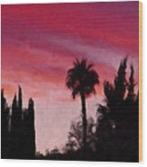 California Sunset Painting 1 Wood Print