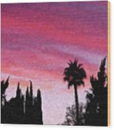 California Sunset Painting 2 Wood Print