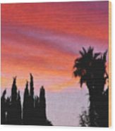 California Sunset Painting 3 Wood Print