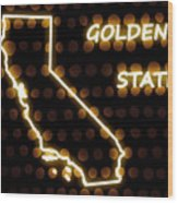 California - The Golden State Wood Print