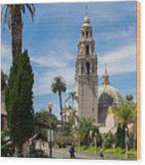 California Tower In Balboa Park Wood Print