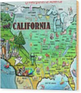 California Usa Wood Print