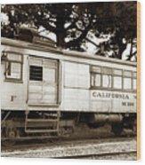 California Western  M 100 Gas Railcar  Skunk Train  Circa 1930 Wood Print