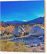 California Wilderness Panorama Wood Print
