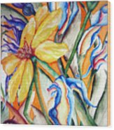 California Wildflowers Series I Wood Print