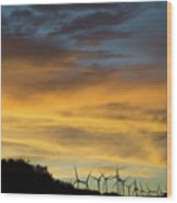 California Windmills Wood Print
