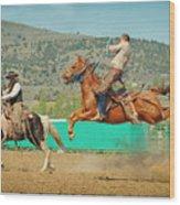 Californios Burns Ranch Bronc 2012 Wood Print