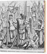 Calisthenics, 1867 Wood Print