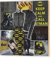 Call Batman Wood Print