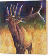 Call Of The Wild Elk Wood Print