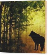Call Of The Wolf Wood Print
