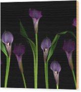 Calla Lilies Wood Print by Marlene Ford