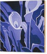 Calla Lilies Royal Wood Print